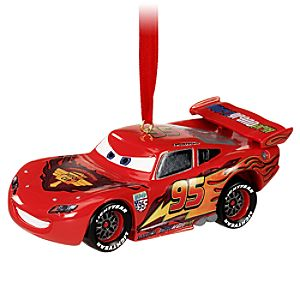 Light-Up Cars 2 Lightning McQueen Ornament