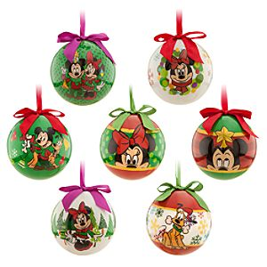 Mickey and Minnie Mouse Ornament Set