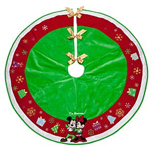 Mickey and Minnie Mouse Tree Skirt - Personalizable