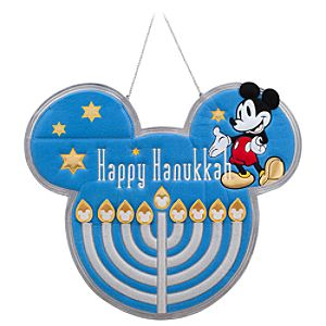 Mickey Mouse Hanging Hanukkah Menorah