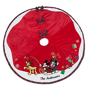 Mickey Mouse and Friends Tree Skirt - Personalizable