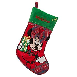 Minnie Mouse Holiday Stocking - Personalizable