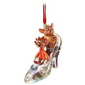 Jaq and Gus with Slipper Cinderella Ornament