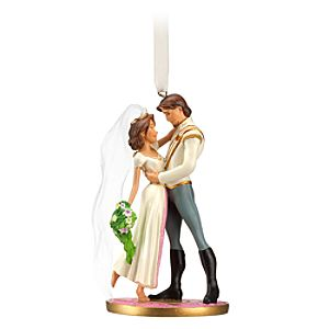Flynn Rider and Rapunzel Sketchbook Ornament