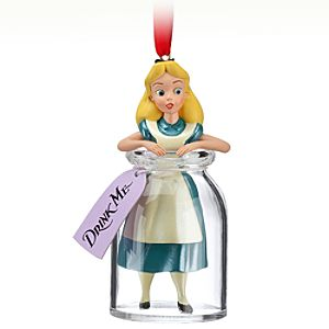 Drink Me Alice in Wonderland Ornament