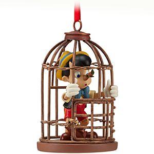 Bird Cage Pinocchio Ornament