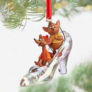Jaq and Gus with Cinderella Slipper Sketchbook Ornament