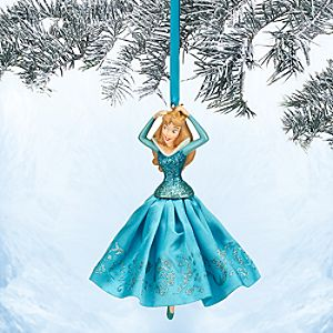 Aurora Sketchbook Ornament - Sleeping Beauty - Blue - Online Exclusive