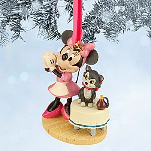 Minnie Mouse and Figaro Sketchbook Ornament - Bath Day