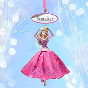 Aurora Sketchbook Ornament - Sleeping Beauty - Pink - Personalizable