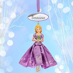 Rapunzel Sketchbook Ornament - Personalizable