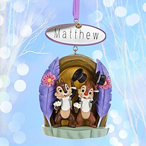 Chip n Dale Sketchbook Ornament - Two Chips and a Miss - Personalizable
