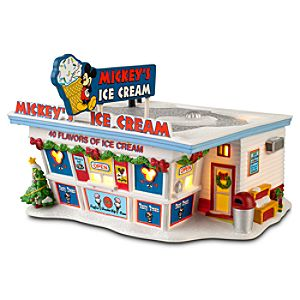 Light-up Disney Village Mickeys Ice Cream Shop by Dept. 56