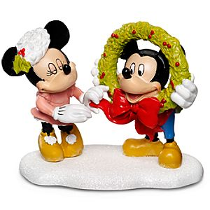 Decorating Mickey Minnie and Mickey Mouse Figurine by Dept. 56