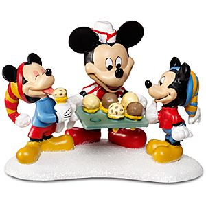 Mickey Serving Treats Morty and Ferdie Fieldmouse and Mickey Mouse Figurine by Dept. 56