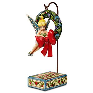 Tinker Bell with Wreath Hanging Figurine by Jim Shore