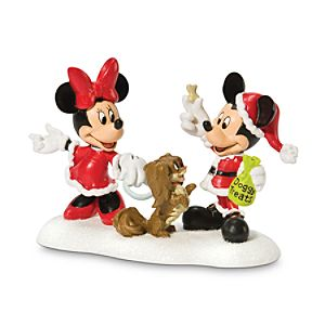 A Treat for Minnies Dog Fifi, Minnie and Mickey Mouse Figurine by Dept. 56