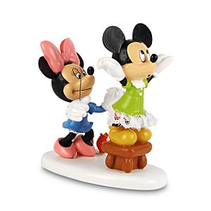 Minnie Sewing Mickey and Minnie Mouse Figurine by Dept. 56
