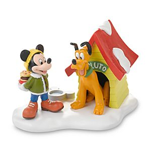 Holiday Pluto and Mickey Mouse Figurine by Dept. 56