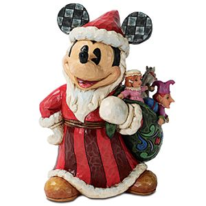 Santa Mickey Mouse Figure by Jim Shore