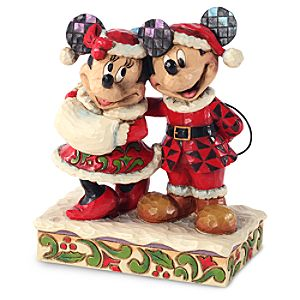 Minnie and Mickey Mouse Figure by Jim Shore - Holiday Duet