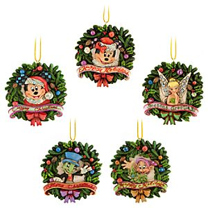 World of Disney Wreath Ornament Set by Jim Shore