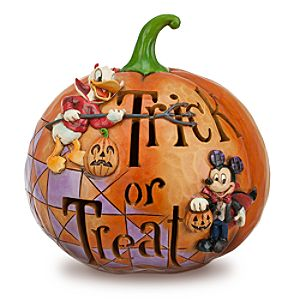 Mickey Mouse and Donald Duck Jack OLantern by Jim Shore