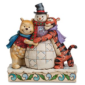 Winnie the Pooh and Tigger Winter Hugs Figure by Jim Shore