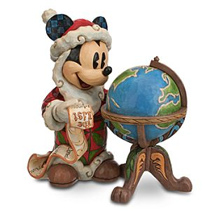Santa Mickey Mouse Seasons Greetings Around the World Figure by Jim Shore