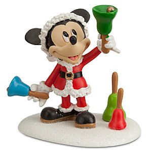 Santa Mickey Mouse Ringing in the Holidays Figurine by Dept. 56
