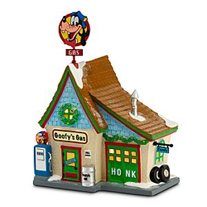 Goofy Goofys Gas Station Building by Dept. 56