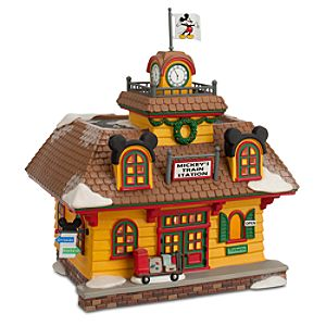 Mickey Mouse Mickeys Train Station Building by Dept. 56