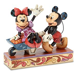 Mickey and Minnie Mouse Picking Pumpkins Together Figure by Jim Shore