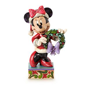 Minnie Mouse Seasons Greeting Figure by Jim Shore