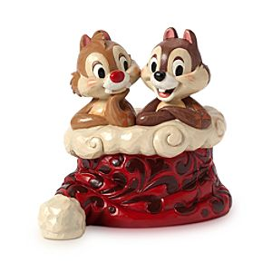 Chip n Dale Holly Jolly Christmas Figure by Jim Shore