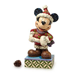 Santa Mickey Mouse Merry Christmas Big Figure by Jim Shore