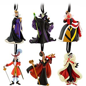 Classic Disney Villains Ornament Set -- 6-Pc.
