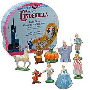 Limited Edition Classic Cinderella Ceramic Figurine Set -- 9-Pc.