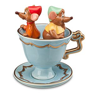 Limited Edition Classic Cinderella Tea Cup with Jaq and Gus Figurine