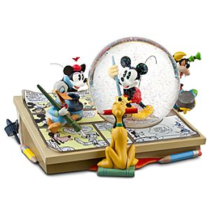 Comic Strip Artists Mickey Mouse Snowglobe
