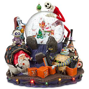 Deluxe Tim Burtons The Nightmare Before Christmas Snowglobe