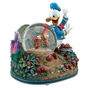 Chip n Dale with Donald Duck Snowglobe