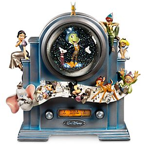 Disney Store 25th Anniversary On the Air World of Disney Snowglobe