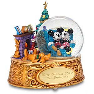 Minnie and Mickey Mouse Snowglobe - Personalizable