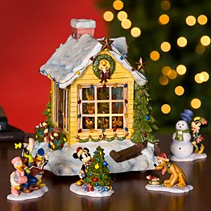 Mickey Mouse Snowglobe and Figurine Set