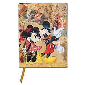 D23 Exclusive 25th Anniversary Minnie and Mickey Mouse Journal