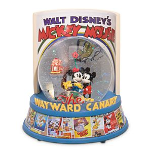 Disney Nostalgia The Wayward Canary Mickey Mouse Snowglobe