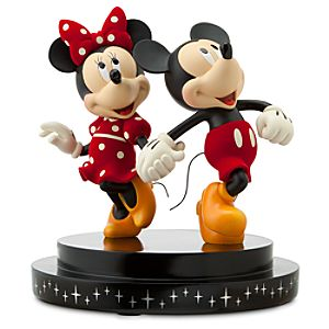 Disney Store 25th Anniversary Minnie and Mickey Mouse Figurine