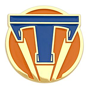 Tomorrowland Icon Pin - Blue on Orange