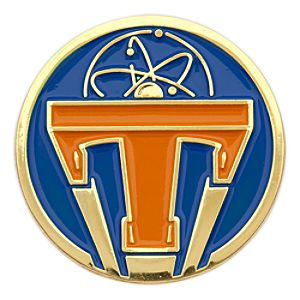 Tomorrowland Icon Pin - Orange on Blue